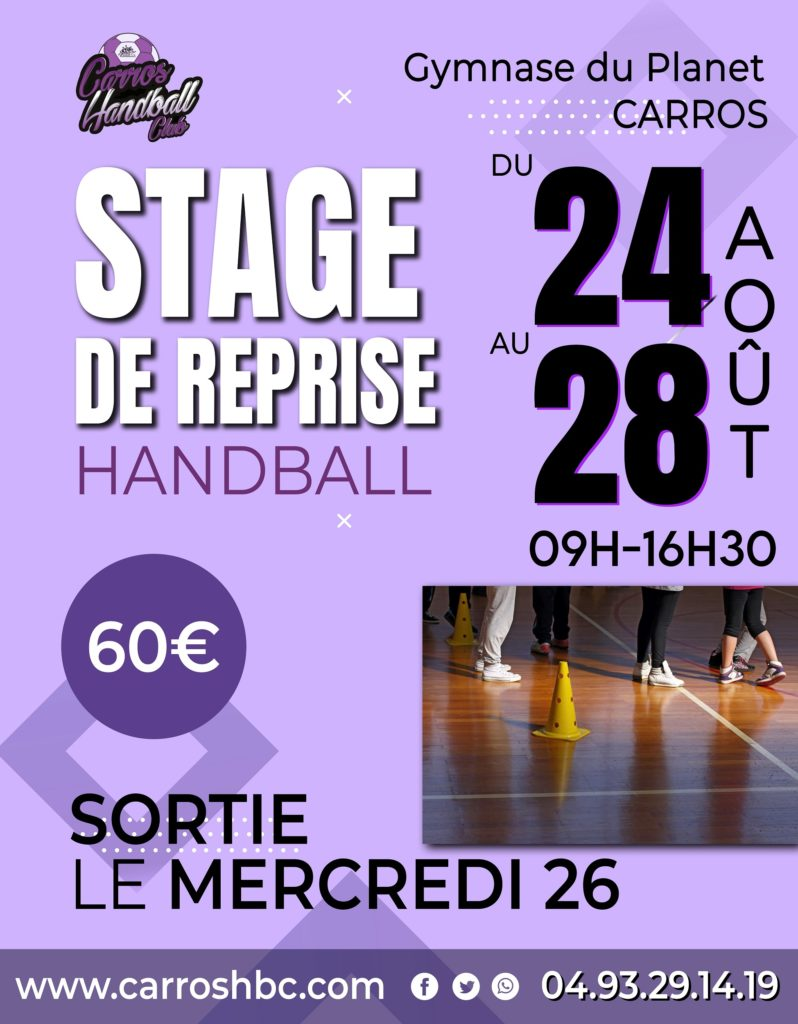 Affiche Stage Aout